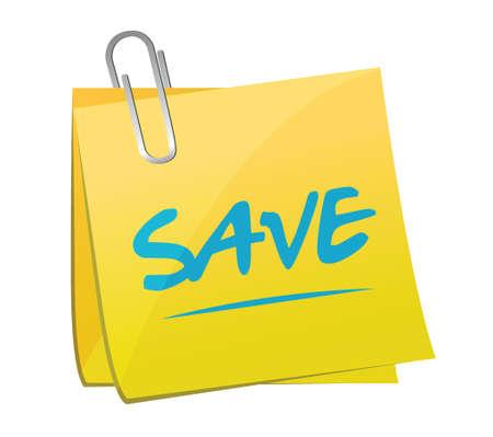 save memo illustration design over a white background