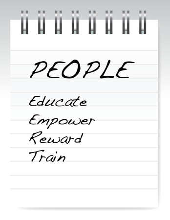 govern: people list on a notepad illustration design over a white background