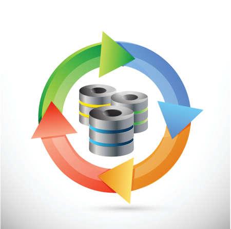 servers constantly working illustration design over a white background Illustration
