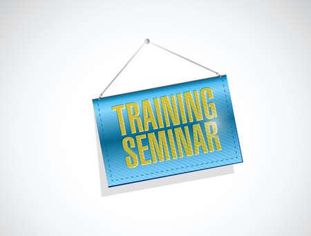 hanging banner: training seminar hanging banner illustration design over a white background Illustration
