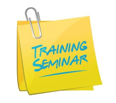 govern: training seminar memo post illustration design over a white background