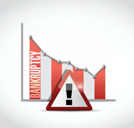 moneyless: bankruptcy falling graph illustration design over a white background Illustration