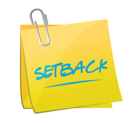 setback memo post illustration design over a white background 向量圖像