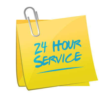 not open: 24 hour service post illustration design over a white background Illustration