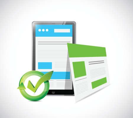 site: tablet web responsive site illustration design over a white background