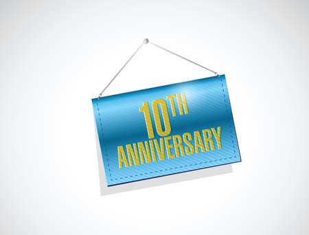 20. Jahrestag hängenden Zeichen, Illustration, Design über einem weißen Hintergrund Standard-Bild - 36113587