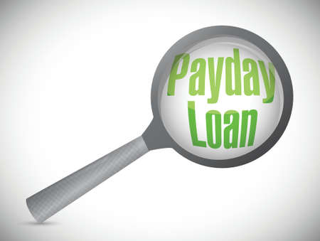 payday: payday loan review illustration design over a white background