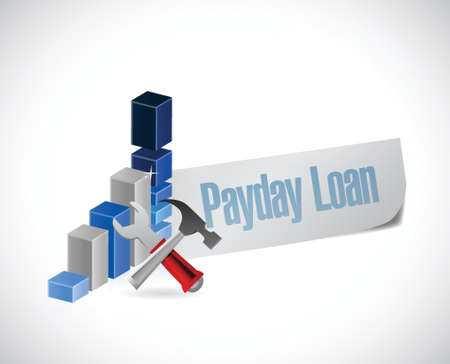 payday: business payday loan illustration design over a white background