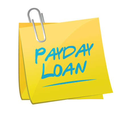 payday: payday loan memo post illustration design over a white background Illustration