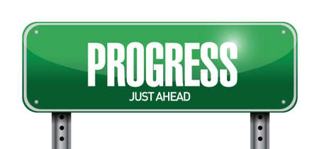 progress street sign illustration design over a white background