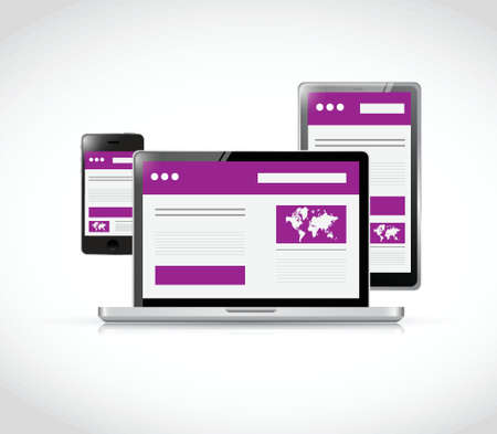 responsive: responsive technology illustration design over a white background