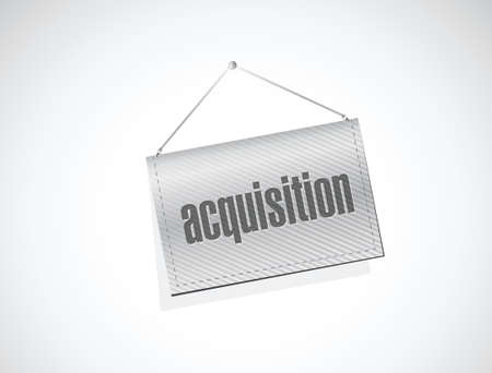liabilities: acquisition hanging banner illustration design over a white background
