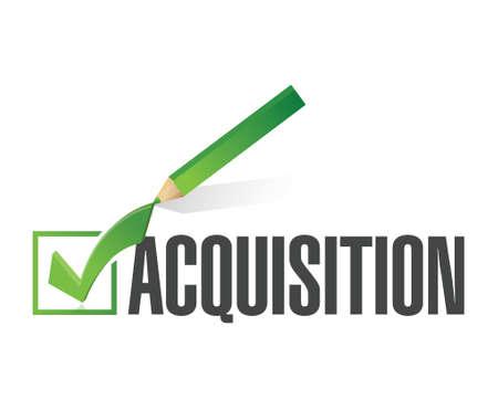 liabilities: acquisition check mark illustration design over a white background Illustration