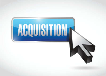 acquisition: acquisition button illustration design over a white background