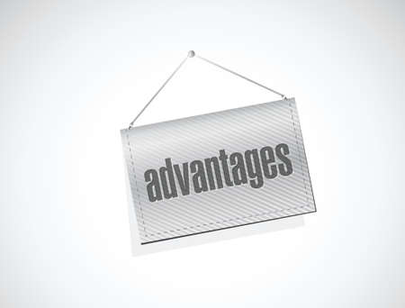 advantages: advantages banner sign illustration design over a white background
