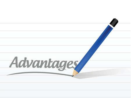 advantage message sign illustration design over a white background Illustration