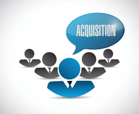 liabilities: acquisition team message illustration design over a white background