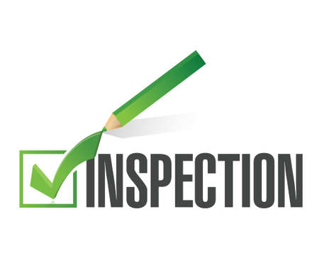 chèque d'inspection marque illustration conception sur un fond blanc