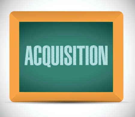 acquisition: acquisition board sign illustration design over a white background