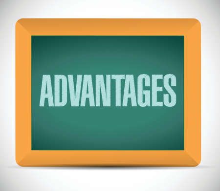 advantages: advantages board sign illustration design over a white background