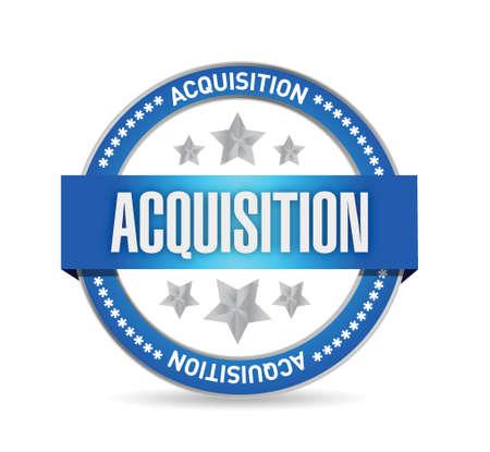acquisition: acquisition seal illustration design over a white background Illustration
