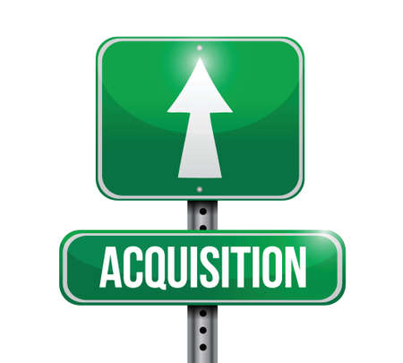 acquiring: acquisition road sign illustration design over a white background