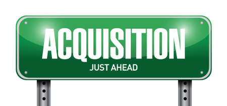 acquisition road sign illustration design over a white background