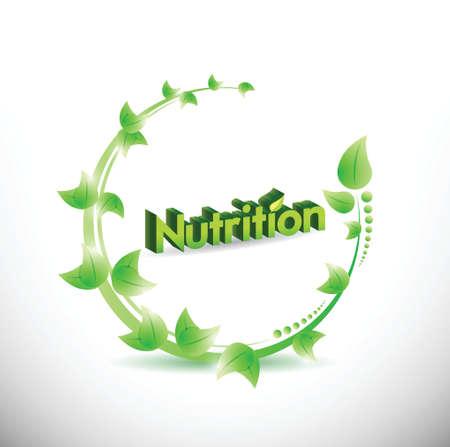 nutrition natural leaves illustration design over a white background