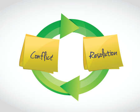 conflict resolution cycle illustration design over a white background illustration design over a white background