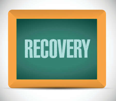 recovery board sign illustration design over a white background Illustration