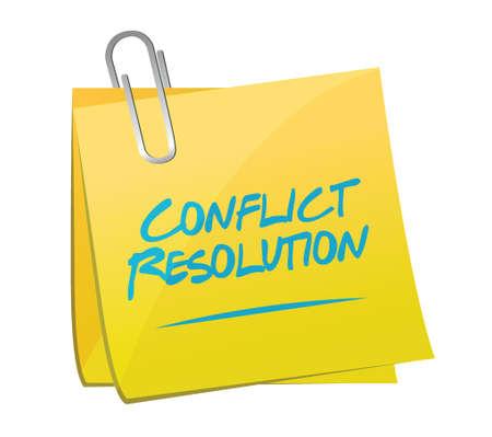 conflicto: responsabilidad post conflicto memo dise�o ilustraci�n sobre un fondo blanco