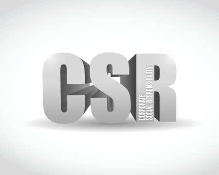 csr: csr 3D Reg�strate dise�o ilustraci�n sobre un fondo blanco