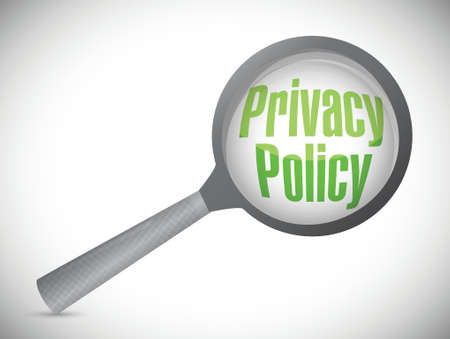 privacy policy magnify review illustration design over a white background