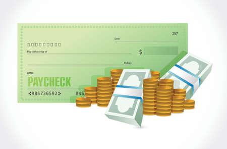 631 paycheck stock vector illustration and royalty free paycheck clipart rh 123rf com Payday Clip Art Paycheck Cartoon