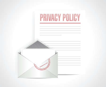 privacy policy documents illustration design over a white background
