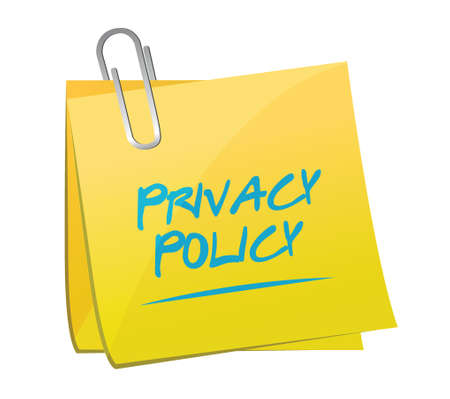 memo: privacy policy memo post illustration design over a white background