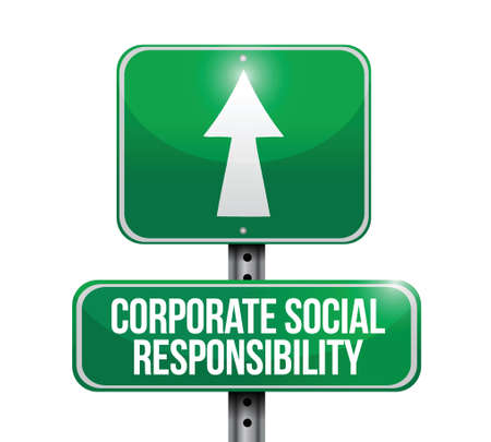 corporate social: corporate social responsibility illustration design over a white background