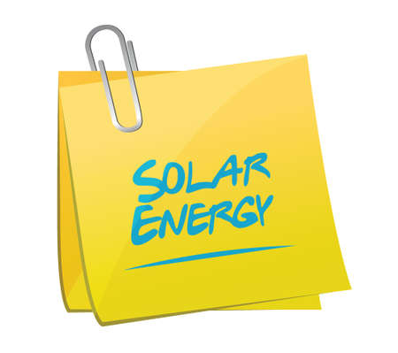 memo: solar energy memo post illustration design over a white background