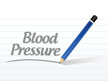 outpatient: blood pressure message illustration design over a white background Illustration