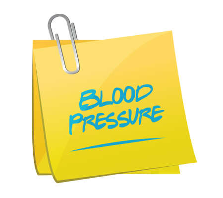 blood pressure monitor: blood pressure memo illustration design over a white background Illustration