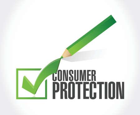 consumentenbescherming vinkje illustratie ontwerp op een witte achtergrond