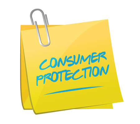 activism: consumer protection memo illustration design over a white background Illustration