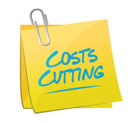 costs: costs cutting memo illustration design over a white background