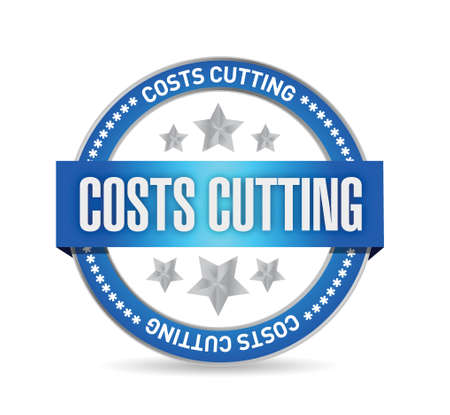 costs cutting seal illustration design over a white background