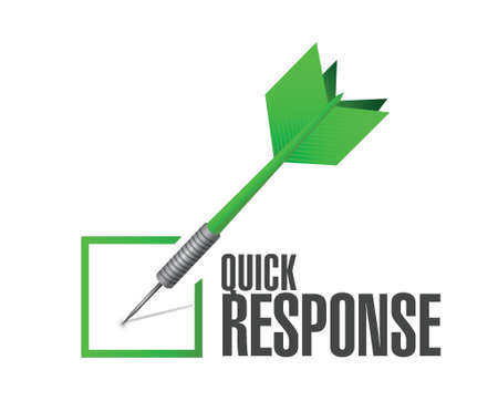 quick response: quick response dart check mark illustration design over a white background
