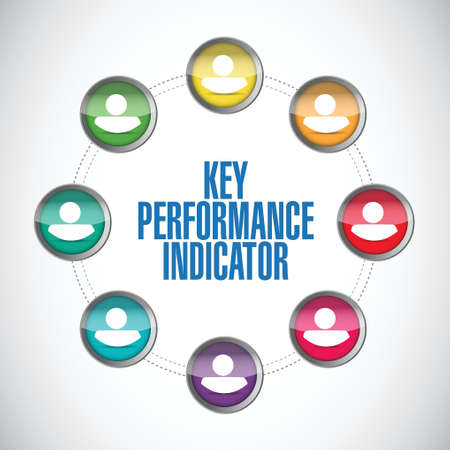 define: key performance indicator people diversity illustration design over a white background