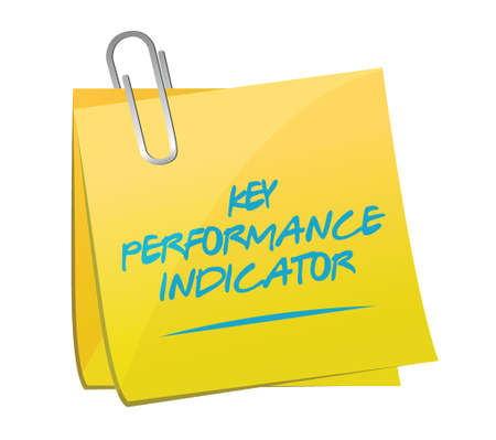 key performance indicator memo post illustration design over a white background