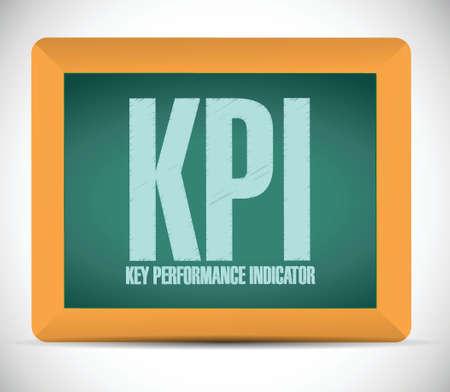 indicator board: key performance indicator board sign illustration design over a white background