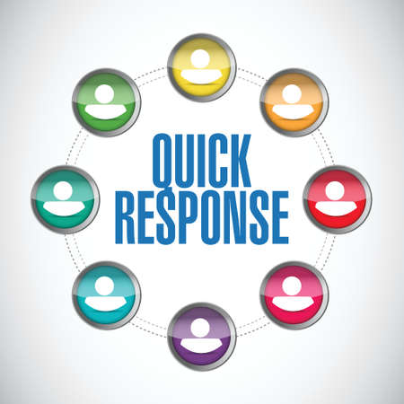 quick response: quick response people diversity illustration design over a white background