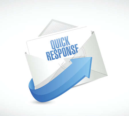 quick response: quick response email illustration design over a white background Illustration